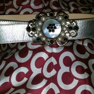 EXQUISITE LEATHER ROCK SILVER BELT